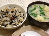 ひじきご飯とひえスープ.JPG