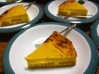 パンプキン豆腐チーズケーキ④.JPG