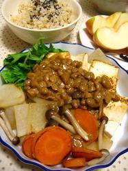 蒸し焼き野菜の納豆ソース.JPG