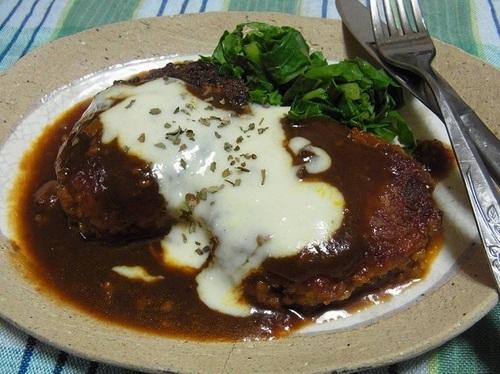高野豆腐でハンバーグステーキ⑤.JPG