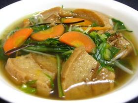 水菜と車麩のスープ.JPG